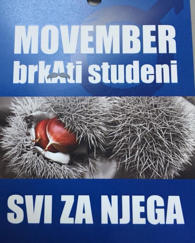 Javnozdravstvena akcija SVI ZA NJEGA – MOVEMBER – BRKATI STUDENI